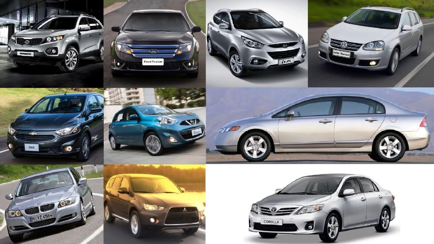 5 carros até 50 mil reais