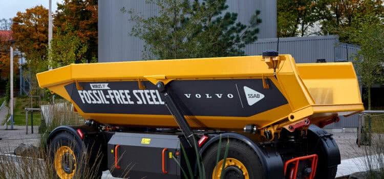 Grupo Volvo lança primeiro veículo feito de aço livre de fósseis